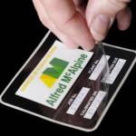Etykieta zabezpieczona specjalną folią transparentną